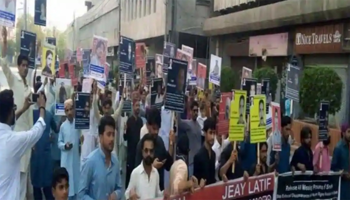 Massive protest in Karachi against enforced disappearances in Sindh