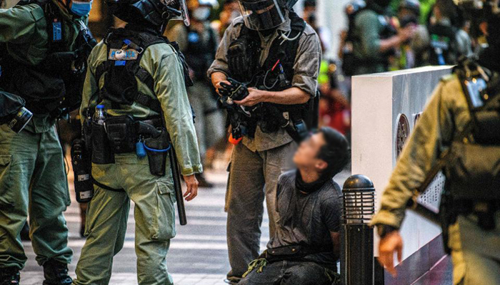 Hong Kong makes first arrests under national security law