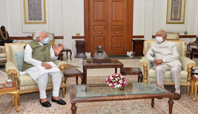 Days after Leh visit, Narendra Modi calls on Ram Nath Kovind