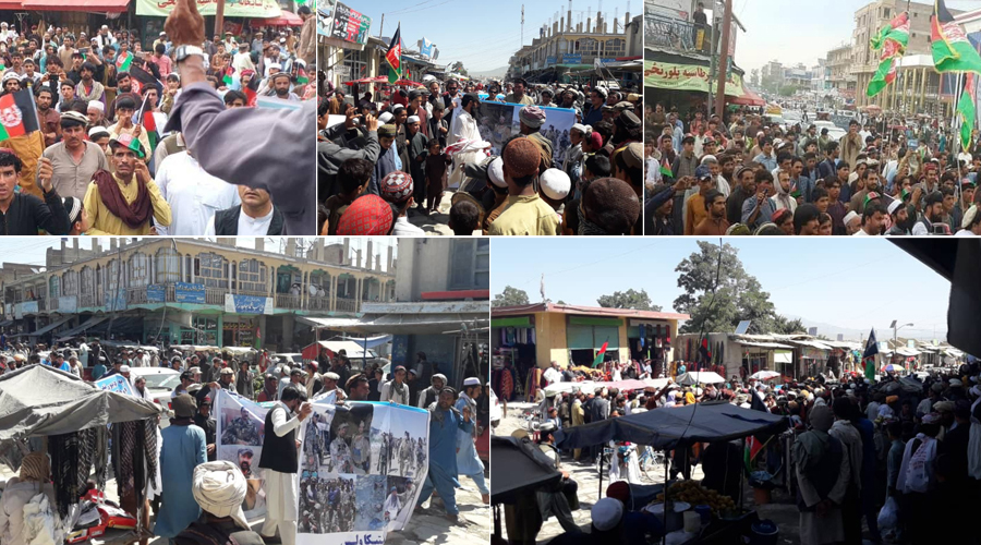 Protests at Khosa and Paktika on July 27 against cross-border rocket attacks by Pak security forces
