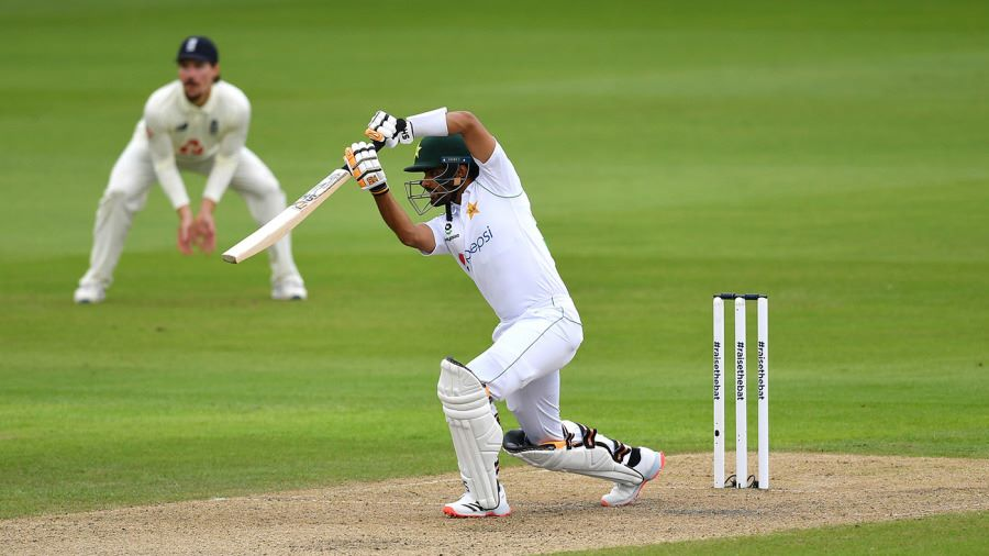 Babar Azam, Shan Masood lift Pakistan on stop-start day