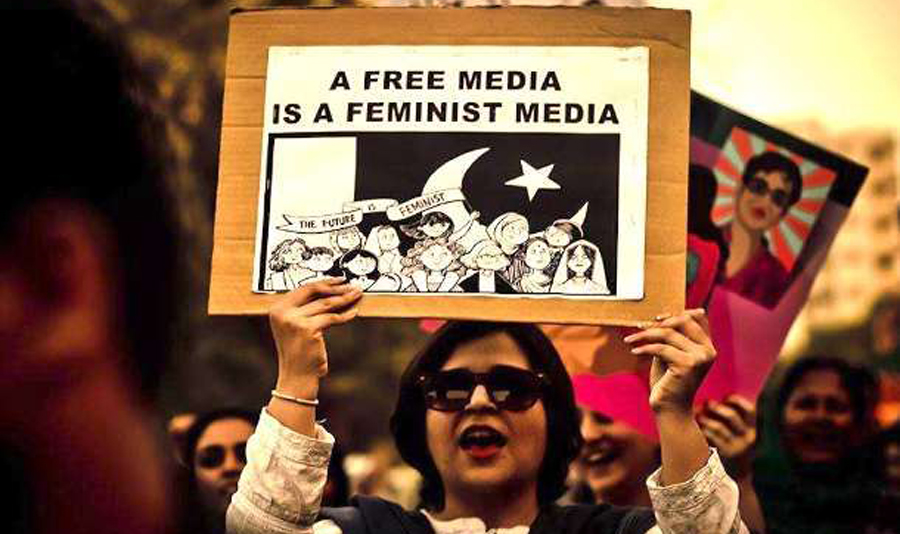 In Pakistan even women journalists are not being spared