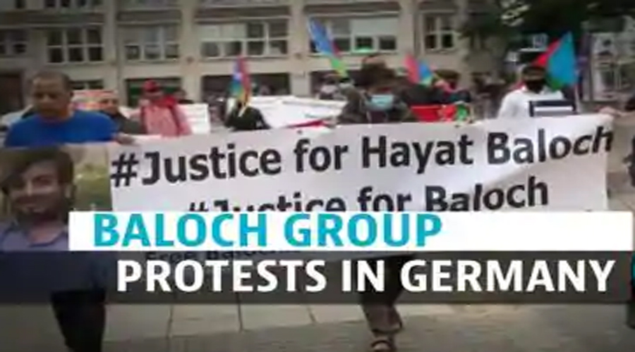 Anti-Pakistan protest in Germany over killing of youth in Balochistan