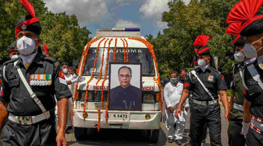 Pranab Mukherjee cremated with full state honours