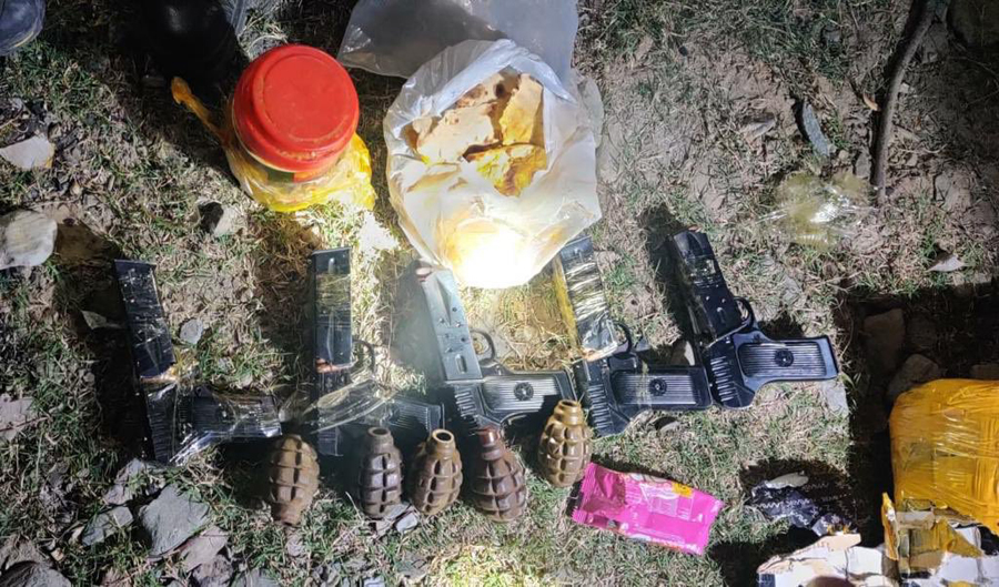 Bag with arms and ammunition recovered in Kupwara LOC