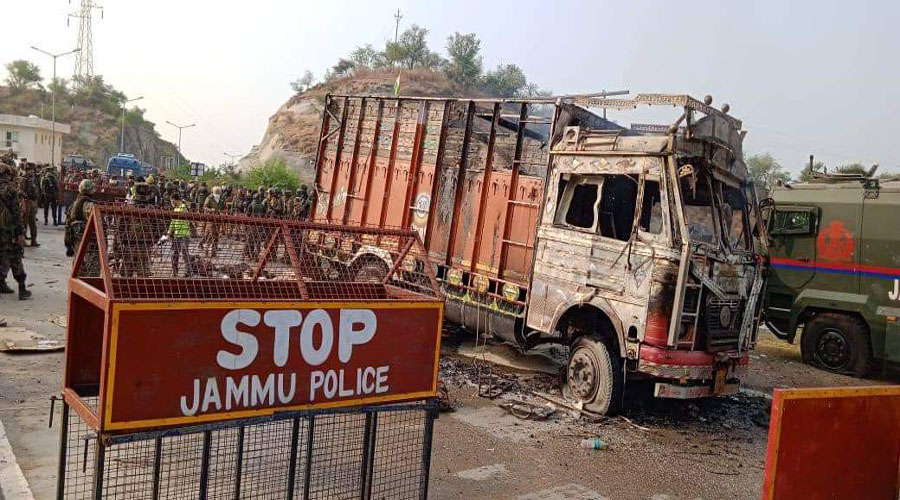 Four suspected Jaish terrorists, hiding in truck, killed in J&K encounter