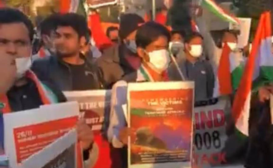 Protest outside Pak embassy in Tokyo on 26/11 anniversary