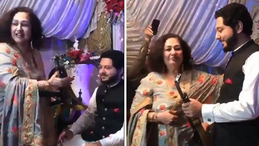 Mother in law gift ak 47 to bridegroomPakistani man get AK-47 rifle as wedding gift from his mother-in-law