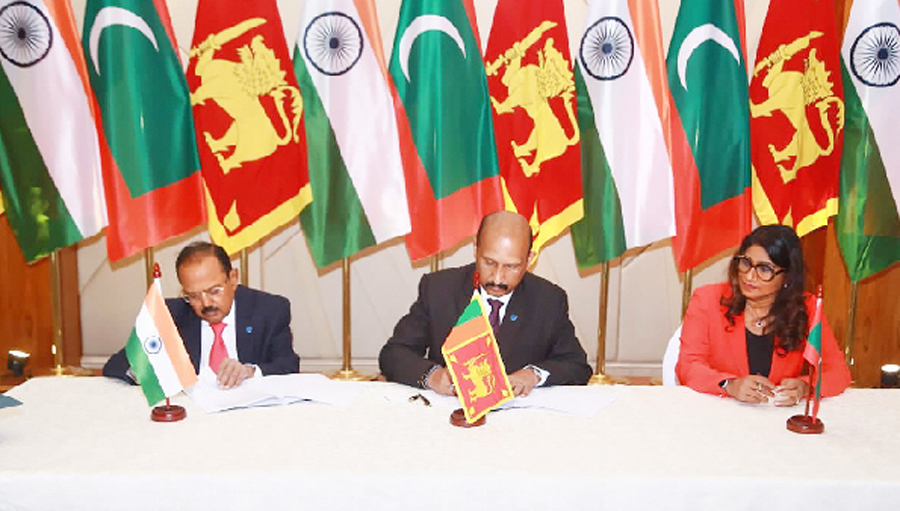 India, Sri Lanka and Maldives agree to bolster maritime security cooperation