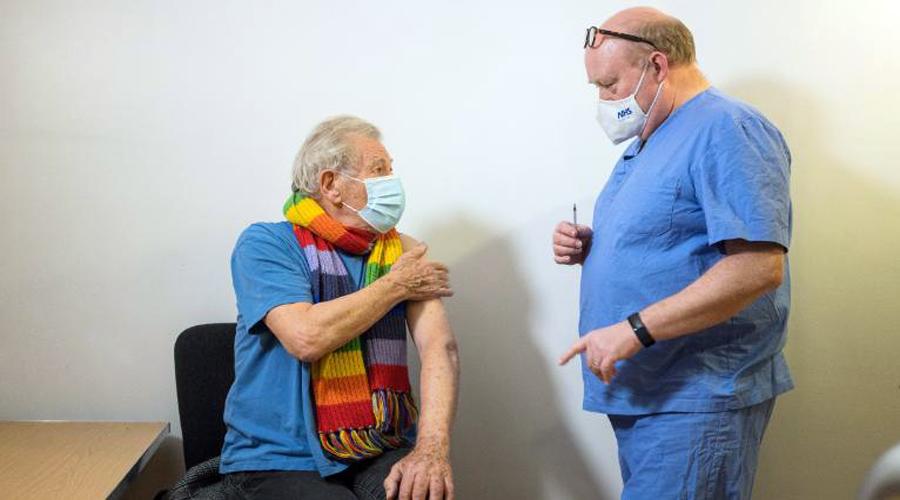 British actor Sir Ian McKellen feels 'euphoric' after receiving Covid-19 vaccine