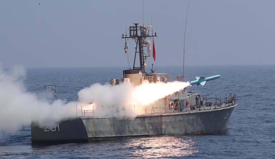 Iran test-fires ballistic missiles into Indian Ocean during military drill