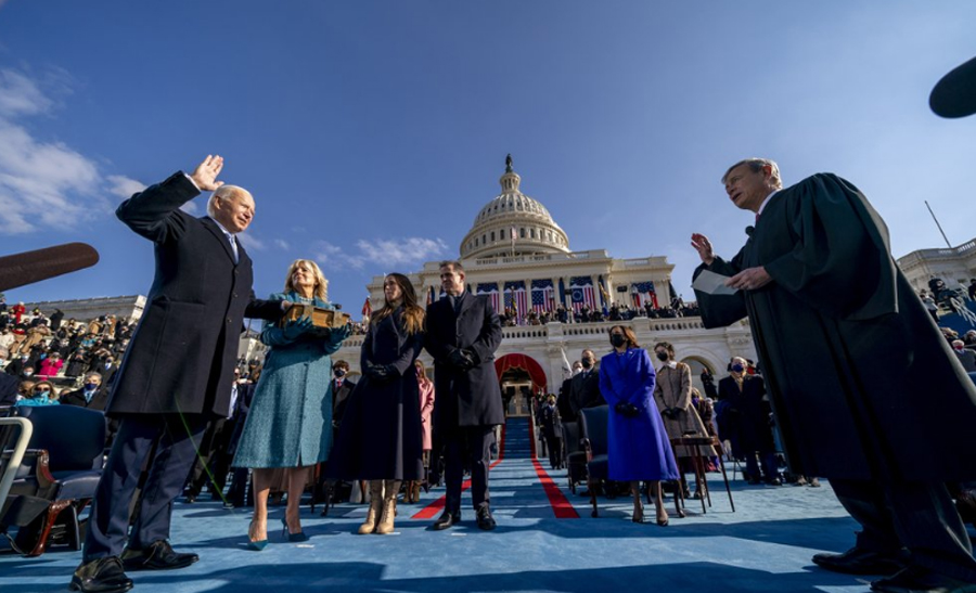 Biden oath second only to Reagan and Barrack Obama with TV viewers