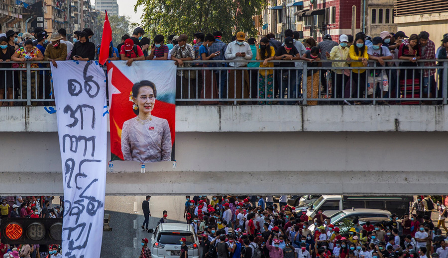 Protests continue across Myanmar despite military's threat to use deadly force