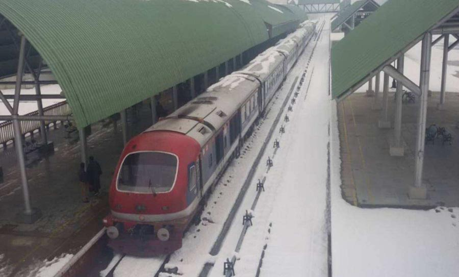 Train services resume in Kashmir Valley after 11 months