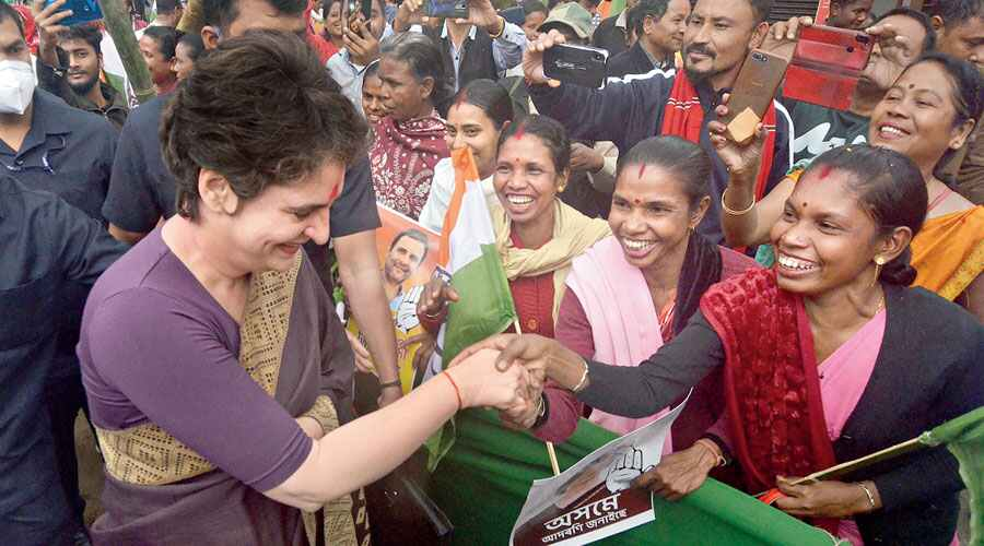 Priyanka Gandhi eyes youth, women in Assam