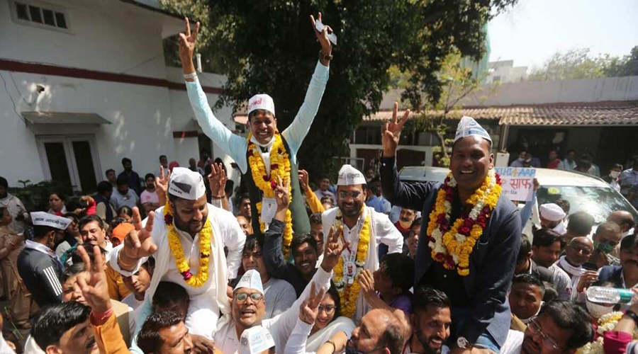 Delhi MCD election 2021: AAP wins four wards, Congress one