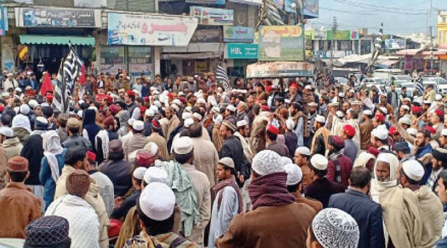 Protest in Abbottabad following alleged desecration of Holy Quran