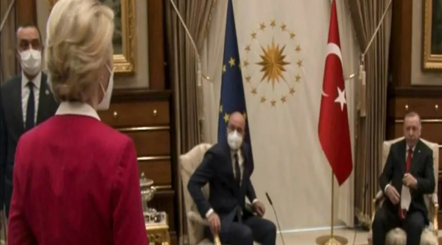 Ursula von der Leyen snubbed in chair gaffe at EU-Erdogan talks