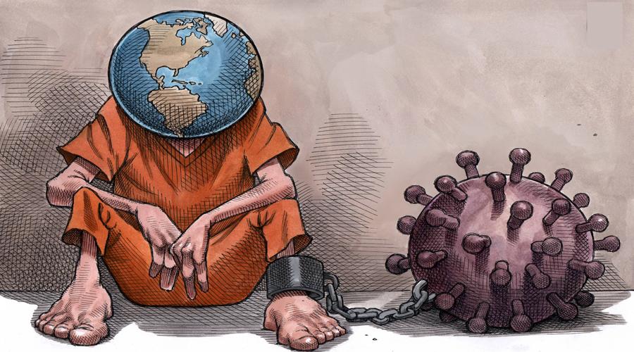 The whole world in the grip of Corinavirus