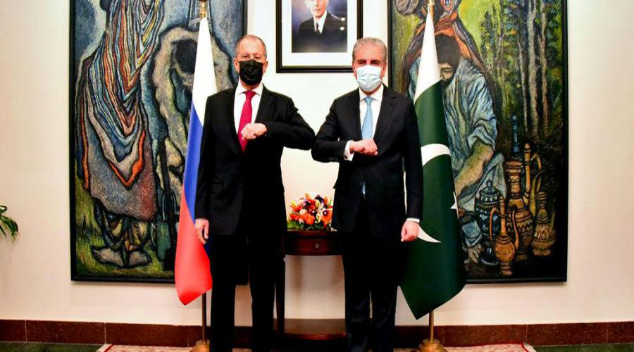 Russian Foreign Minister Sergei Lavrov arrived in Pakistan on Tuesday on a two-day visit