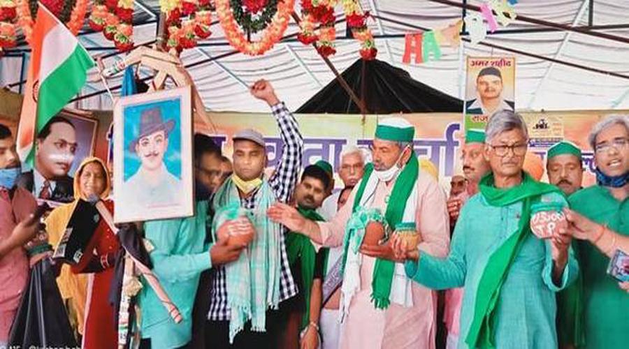 Rakesh Tikait reaches out to Dalit farm hands