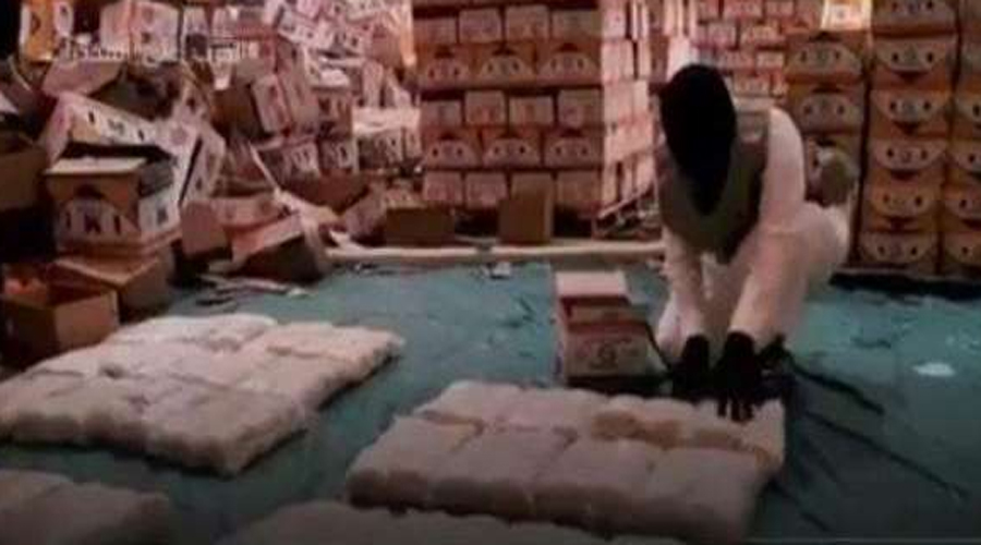 Attempt to smuggle drugs in Orange crates to Saudi Arabia foiled