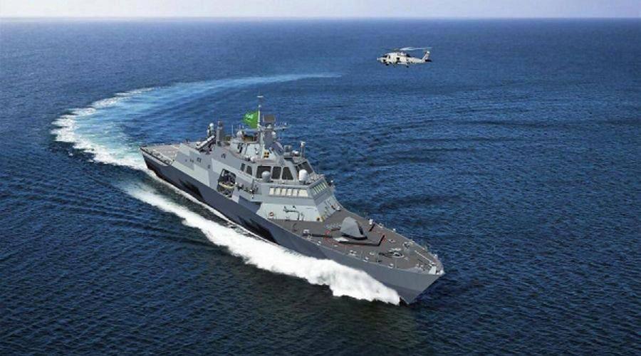 Royal Saudi Naval Forces celebrates the laying of the keel of the Royal Saudi Navy first ship