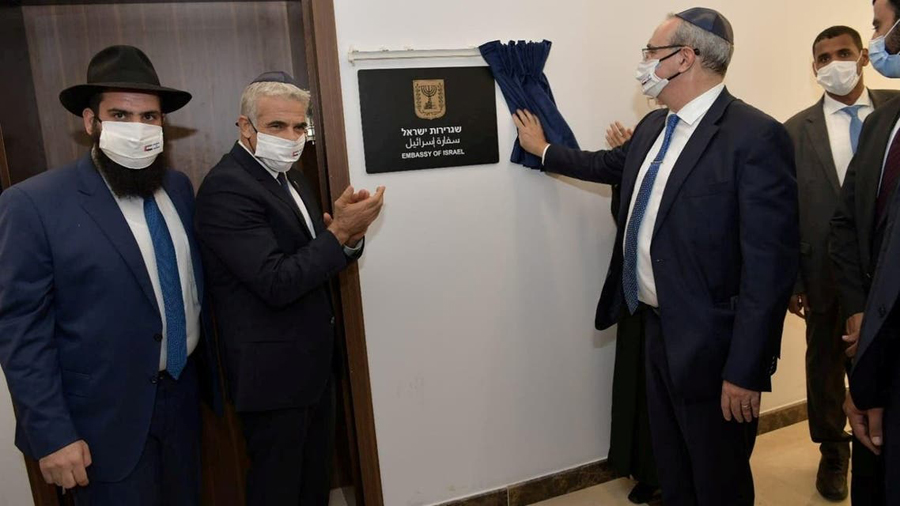 Lapid opens first Israeli embassy in Gulf during 'historic' official visit to UAE