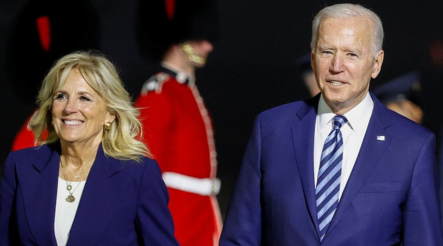 US president Joe Biden arrives in UK for G7 summit and to meet world leaders