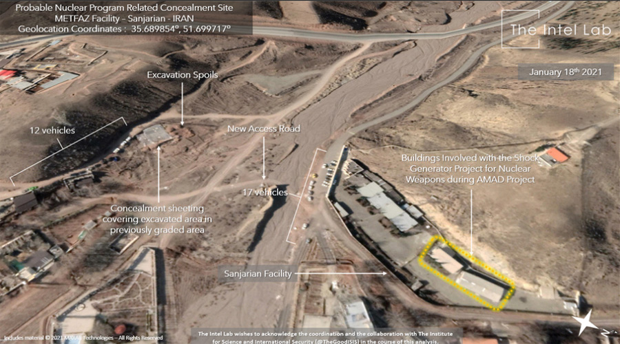 Satellite images show activity at nuclear site in Sanjarian , Iran