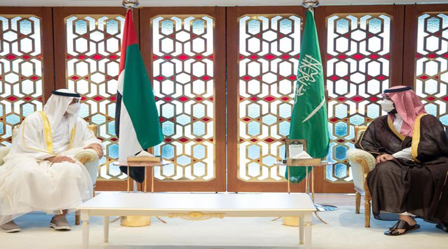Crown prince of Abu Dhabi meets Saudi crown prince MBS in Riyadh