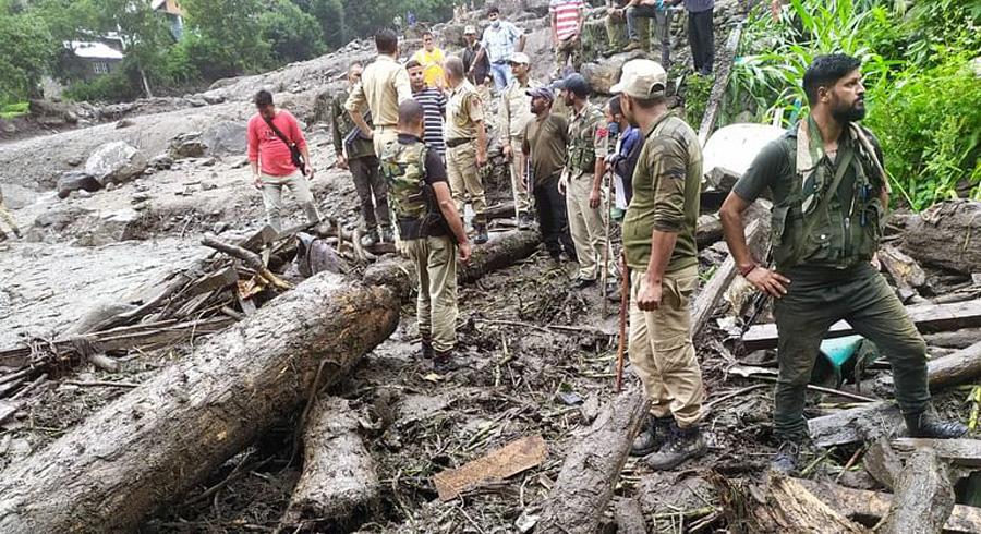 Seven killed and dozens missing in cloudburst in J&K's Kishtwar