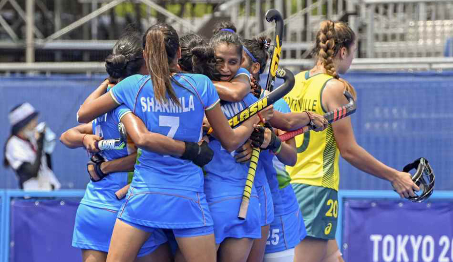 Indian women's hockey team registers a historic win over Aussies to reach Olympics semis