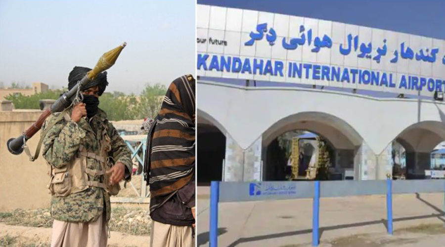 Rocket attack on kandhar airport by Taliban, all flights cancelled