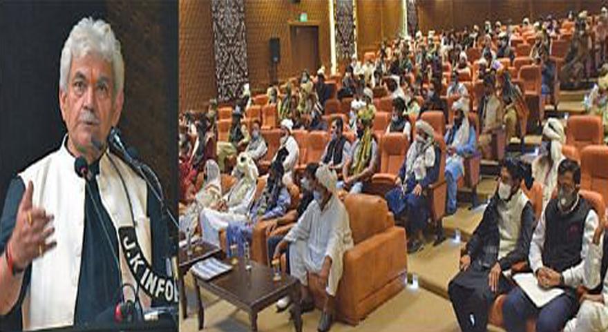 Tribal welfare among top priorities of govt: J&K L-G