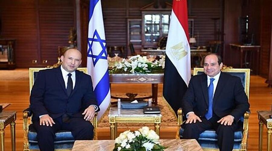 Israeli PM Naftali Bennett, Egyptian President el-Sissi hold first public meeting in decade
