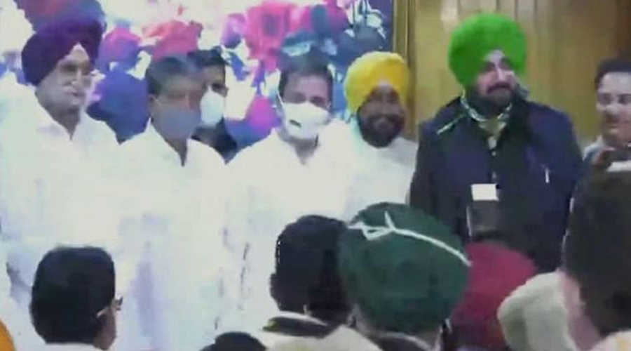 Charanjit Singh Channi takes oath as Punjab Chief Minister Rahul Gandhi attends