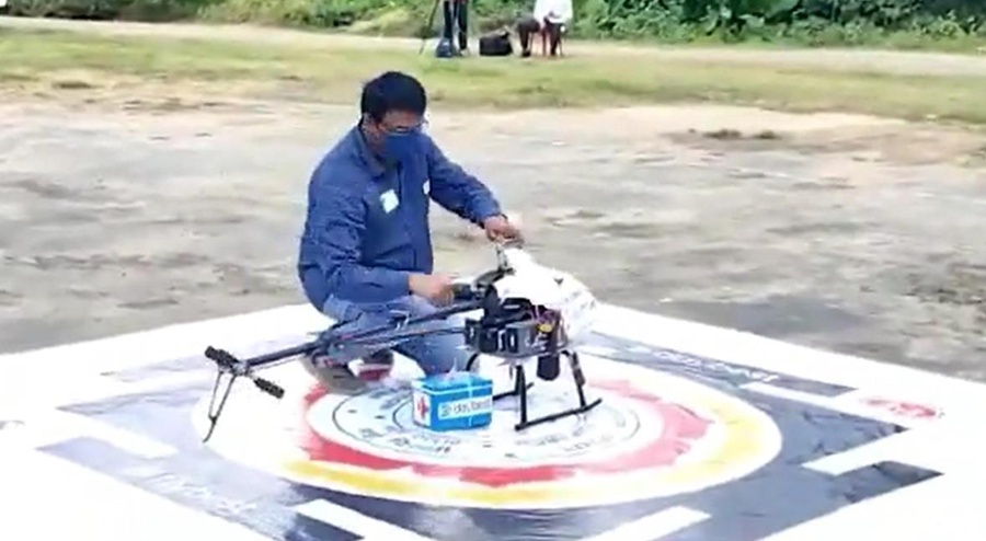 COVID vaccine delivery through drones starts in Northeast