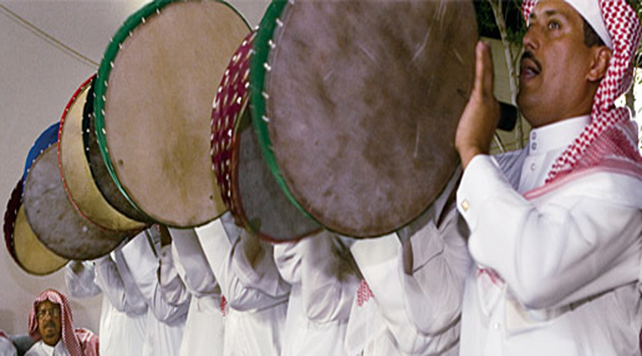 Preparation of a national musical troupe in Saudi Arabia, 80 musicians take part in training session