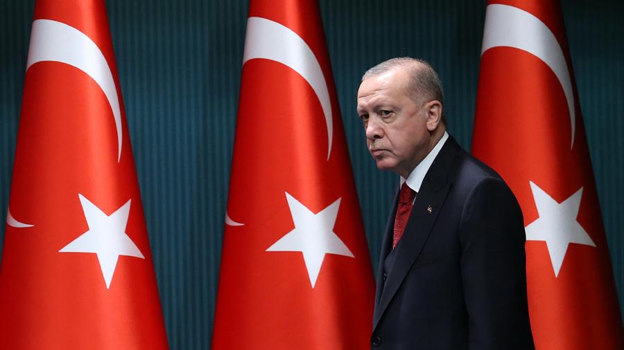 Erdogan's popularity dropped, government in danger