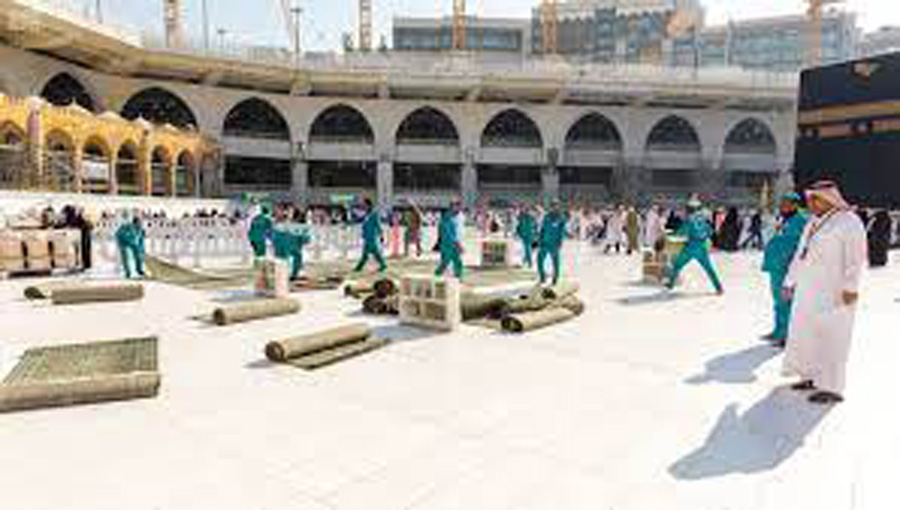 Zam Zam water coolers back into the Haram Sharif after vaccination campaign
